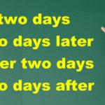 後を表す「in」「later」「after」の違い